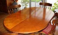 Revarnished old dining table